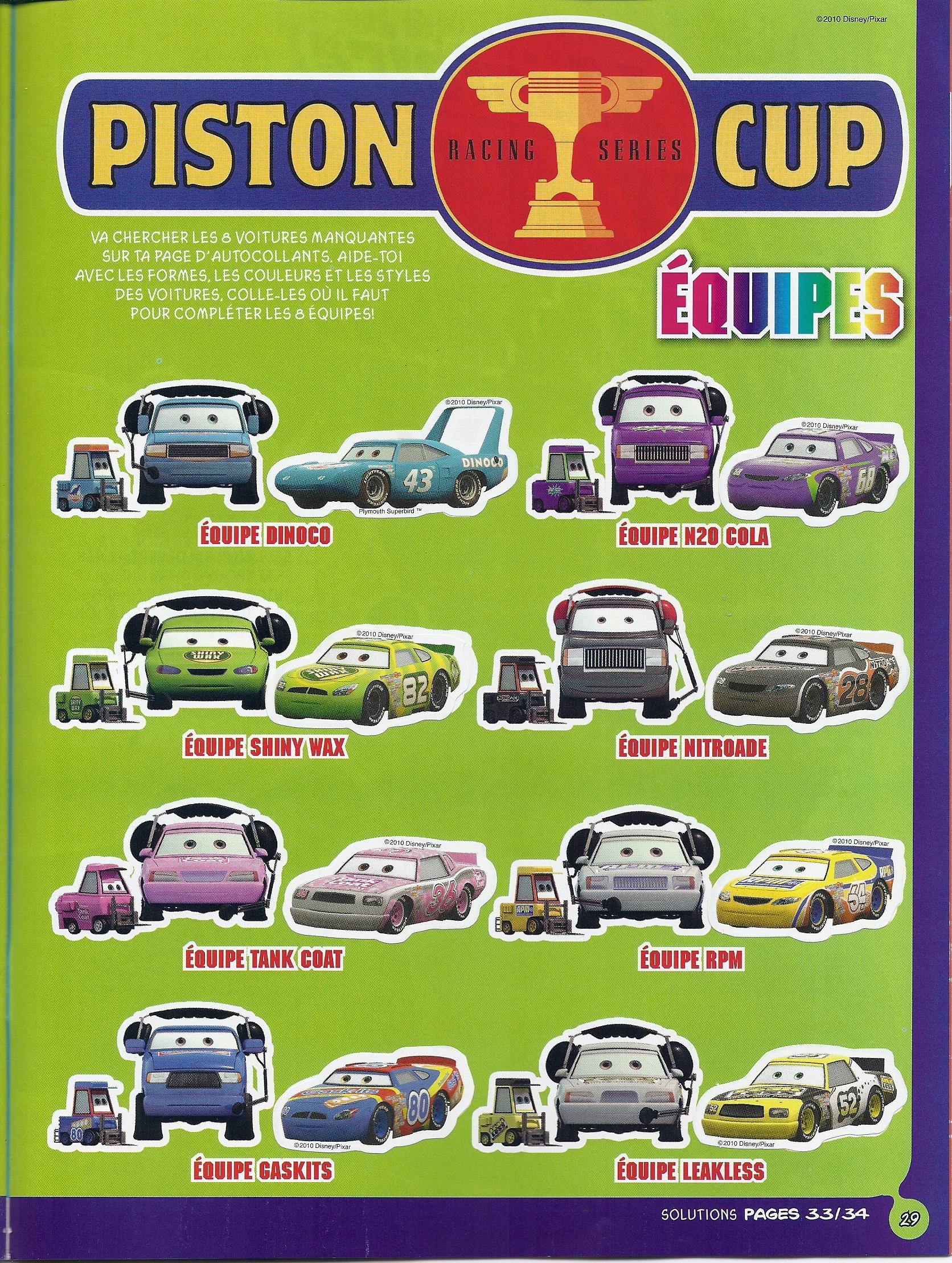 Cars Piston Cup Race Scene
