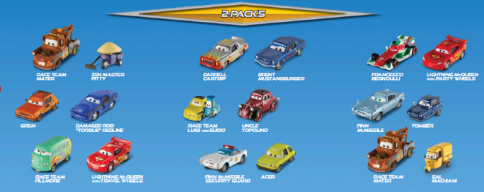 voitures cars 2 mattel poster 2011 disneycarsmania. Black Bedroom Furniture Sets. Home Design Ideas