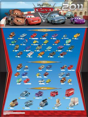 Voitures Cars 2 Mattel - Poster 2011 (3/6)