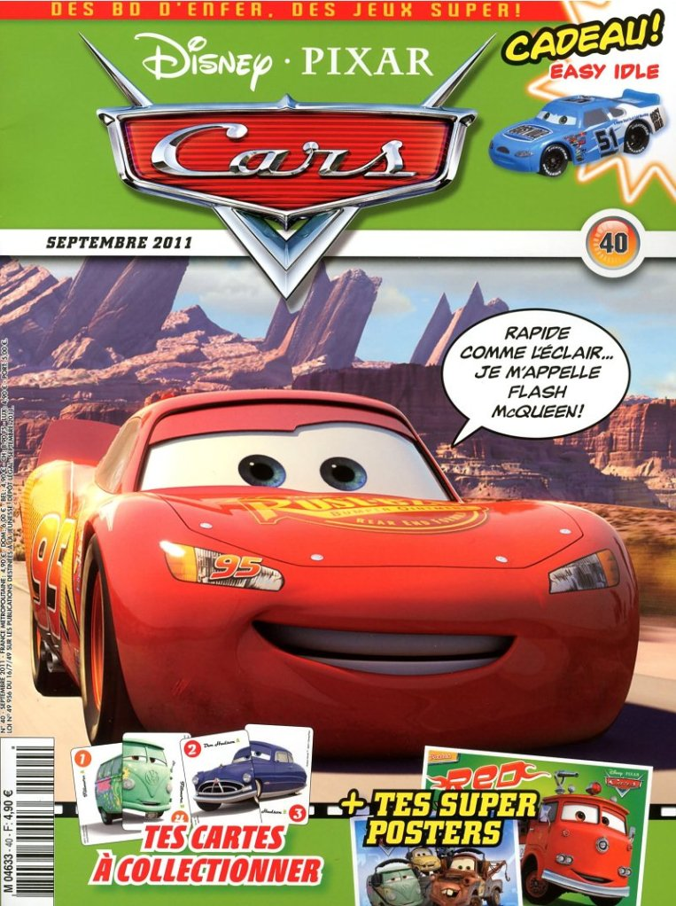 magazine disney pixar cars septembre 2011 40 disneycarsmania. Black Bedroom Furniture Sets. Home Design Ideas