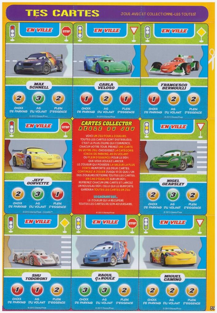 cartes cars 64