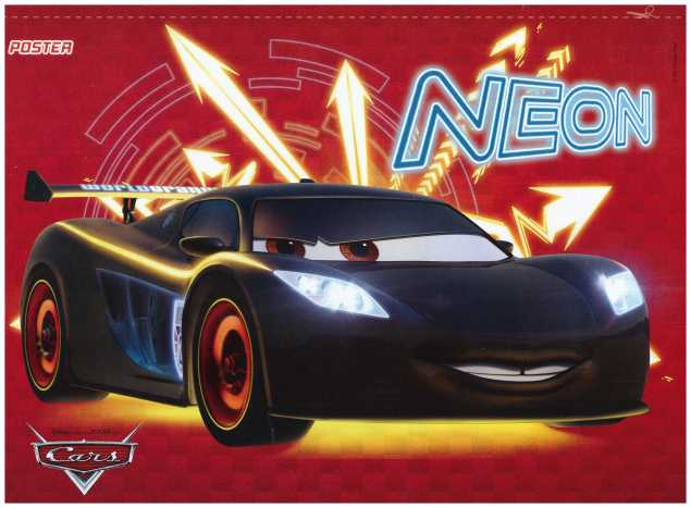Poster Lewis Cars Neon