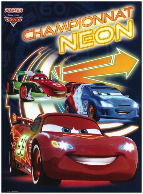 Championnat voiture cars neons