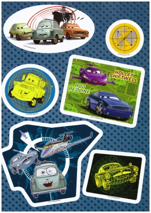 autocollant 2 magazine cars 73