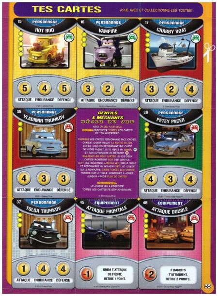 Carte collector mag Cars 77