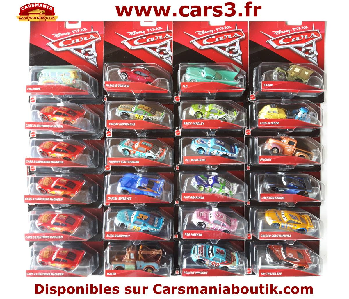 cars 3 les miniatures sont disponibles disneycarsmania. Black Bedroom Furniture Sets. Home Design Ideas